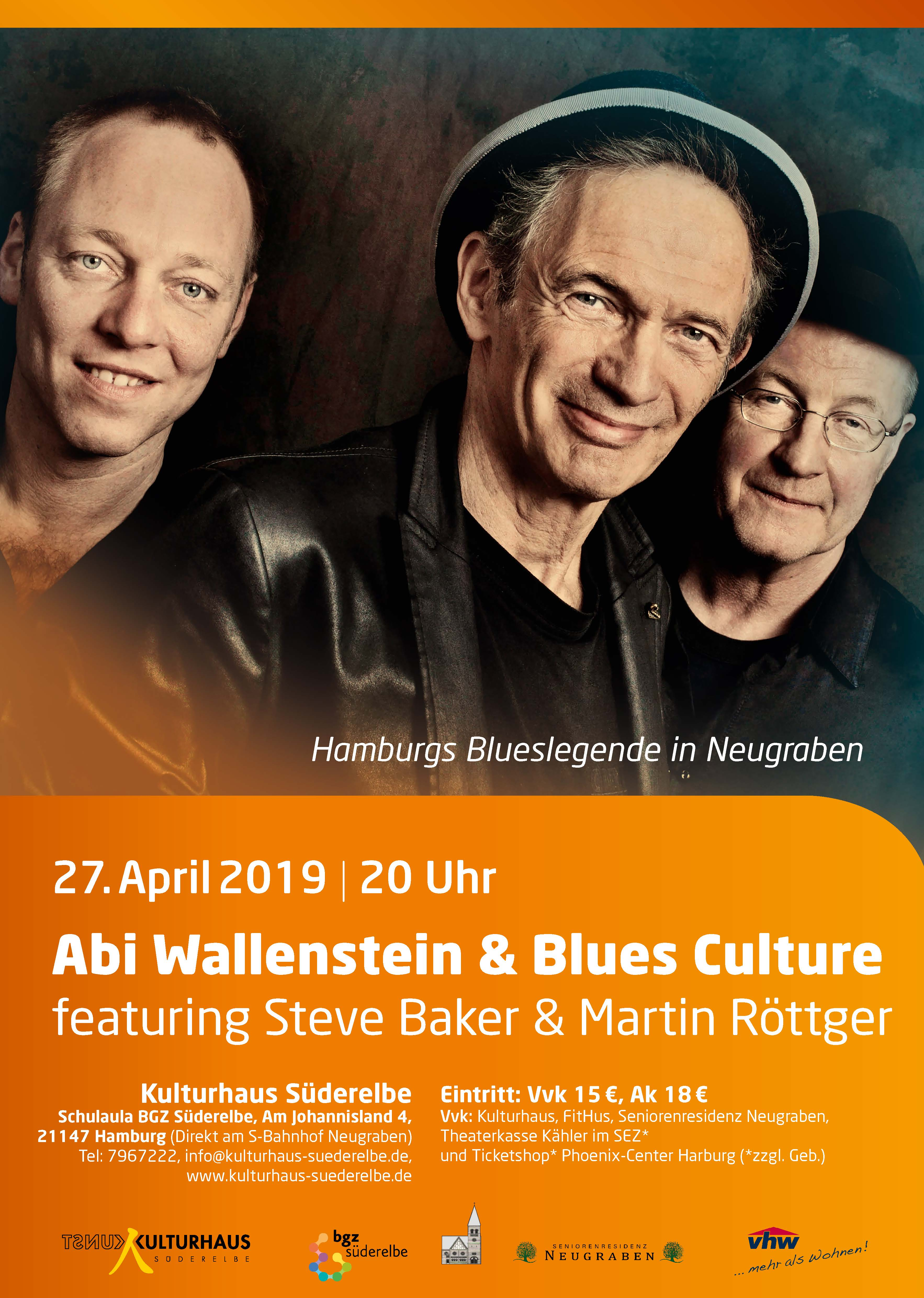 Wallenstein 19 53781 Abi Wallenstein & Blues Culture featuring Steve Baker & Martin Röttger